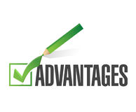 advantages check list illustration design Stock Image