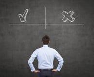 Advantages and disadvantages Stock Photo
