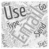 Advantages of email 33 word cloud concept  background. Text Stock Illustration