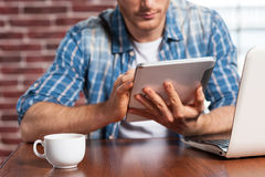 Advantages of free Wi-Fi. Royalty Free Stock Photos