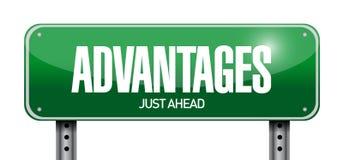 Advantages road sign illustration design Stock Images