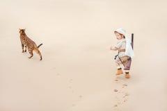 Advantures grandes en desierto Imagenes de archivo