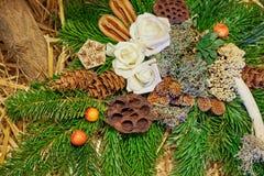 Adven Decoration Wreath Stock Photos