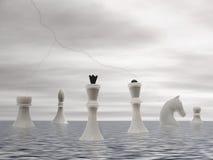 Advenimiento blanco del ajedrez Imagenes de archivo