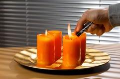Advenimiento de la iluminación Imagen de archivo libre de regalías