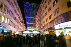 Advenimiento en el centro de Zagreb Imagen de archivo libre de regalías