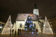 Advenimiento en Zagreb 2017 Imagen de archivo