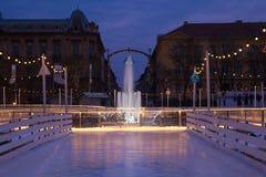 Advenimiento en Zagreb Fotografía de archivo libre de regalías