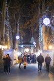 Advenimiento en Zagreb, Croacia 2016 Foto de archivo libre de regalías