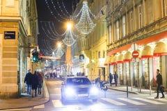 Advenimiento en Zagreb, Croacia 2016 Fotografía de archivo