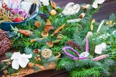 Advent arrangement, tinker grave Arrangement Royalty Free Stock Image
