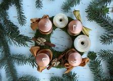 advent beautiful wreath Στοκ Εικόνες