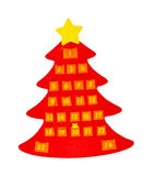 Advent calendar. Traditional advent calendar with countdown to Christmas and clipping path includedCh royalty free stock photography