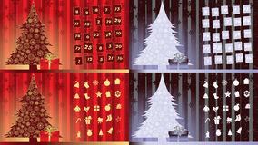 Advent Calendar Stock Photo