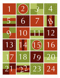 Advent calendar. With numbers and windows royalty free illustration
