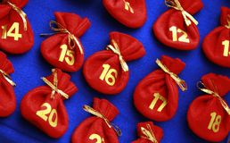 Advent calendar stock image