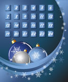 Advent Calendar blue Royalty Free Stock Photography