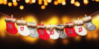 Advent calendar on blur background royalty free stock photo