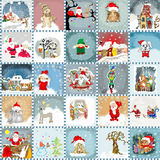 Advent Calendar cards  seamless pattern Royalty Free Stock Photos
