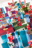 Advent calendar Christmas decoration made of little paper bags Stock Photography