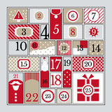 Advent calendar. Royalty Free Stock Image