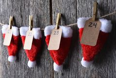 Advent Calendar Closeup Photo stock