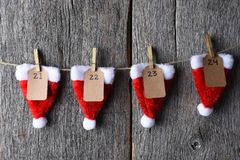 Advent Calendar Closeup Fotografia de Stock