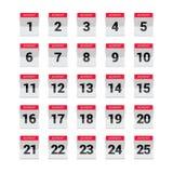 Advent Calendar, ejemplo del vector Imagenes de archivo