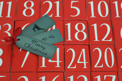 Advent Calendar - Feliz Navidad - Ho Ho Ho Imagen de archivo libre de regalías