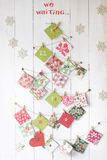 Advent calendar. Handmade paper Advent calendar - 24 days Royalty Free Stock Images