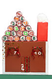 Advent calendar house Stock Image
