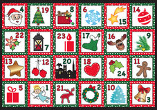 Advent calendar royalty free illustration