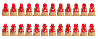 Advent calendar isolated. On white background Royalty Free Stock Photography