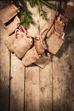 Advent calendar with little sacks Stock Image