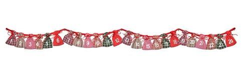 Advent calendar, advent, calendar, sack, fireplace, bag,. Advent Calendar Christmas Socks on a White Ground royalty free stock photography