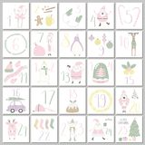 Advent calendar template royalty free illustration