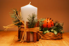 Advent Candle. Royaltyfri Foto