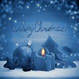 Advent Candle Imágenes de archivo libres de regalías