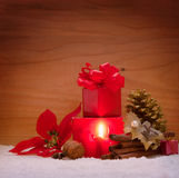 Advent Candle Lizenzfreie Stockfotos