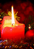 Advent Candle Fotos de archivo libres de regalías