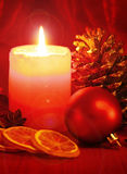 Advent Candle Lizenzfreies Stockbild