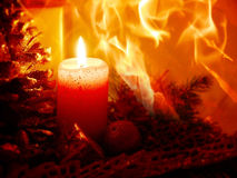 Advent Candle Foto de archivo