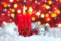 Advent, candle in atmospheric light Royalty Free Stock Photo
