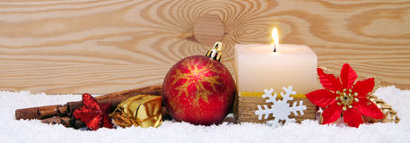 Advent candle. Royalty Free Stock Photo