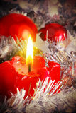 Advent Candle . Stock Photo