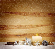 Advent candle. Royalty Free Stock Photos