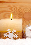 Advent candle. Stock Photos