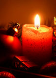 Advent candle. Royalty Free Stock Image