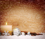 Advent candle. Stock Images