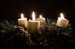 Advent candle Royalty Free Stock Image